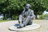 stock photo of compose  - Monument Gustav Ernesaks Estonian composer. Bronze. Sculptors: E.Vali V.Lillemets. This monument is one of the famous sightseeins of Tallinn city.