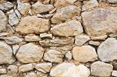 picture of wall-stone  - Old wall of stones - JPG