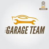 picture of auto garage  - Logo and logotype element for mechanic - JPG