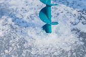 pic of ice fishing  - Close - JPG