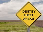 image of theft  - Caution Sign - Identity Theft Ahead