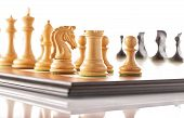 picture of chess piece  - Chess pieces setup before the game  - JPG