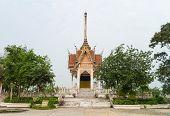 stock photo of crematory  - Crematory with sky background at Wat Wat Pharat Tanaram - JPG
