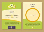 pic of food logo  - Brochure Flyer design vector template in A4 size - JPG