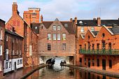 stock photo of west midlands  - Birmingham water canal network  - JPG