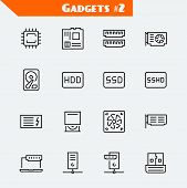 pic of processor  - Computer components icon set - JPG