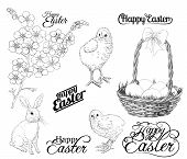 picture of forget me not  - Easter set - JPG