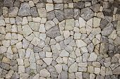 stock photo of tile cladding  - the part of a stone wall background - JPG