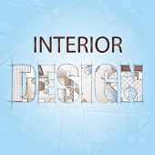 stock photo of interior sketch  - Background for design of interiors - JPG