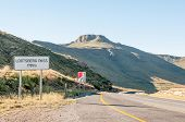 picture of passed out  - Lootsberg Pass between Graaff Reinet and Middelburg in South Africa - JPG