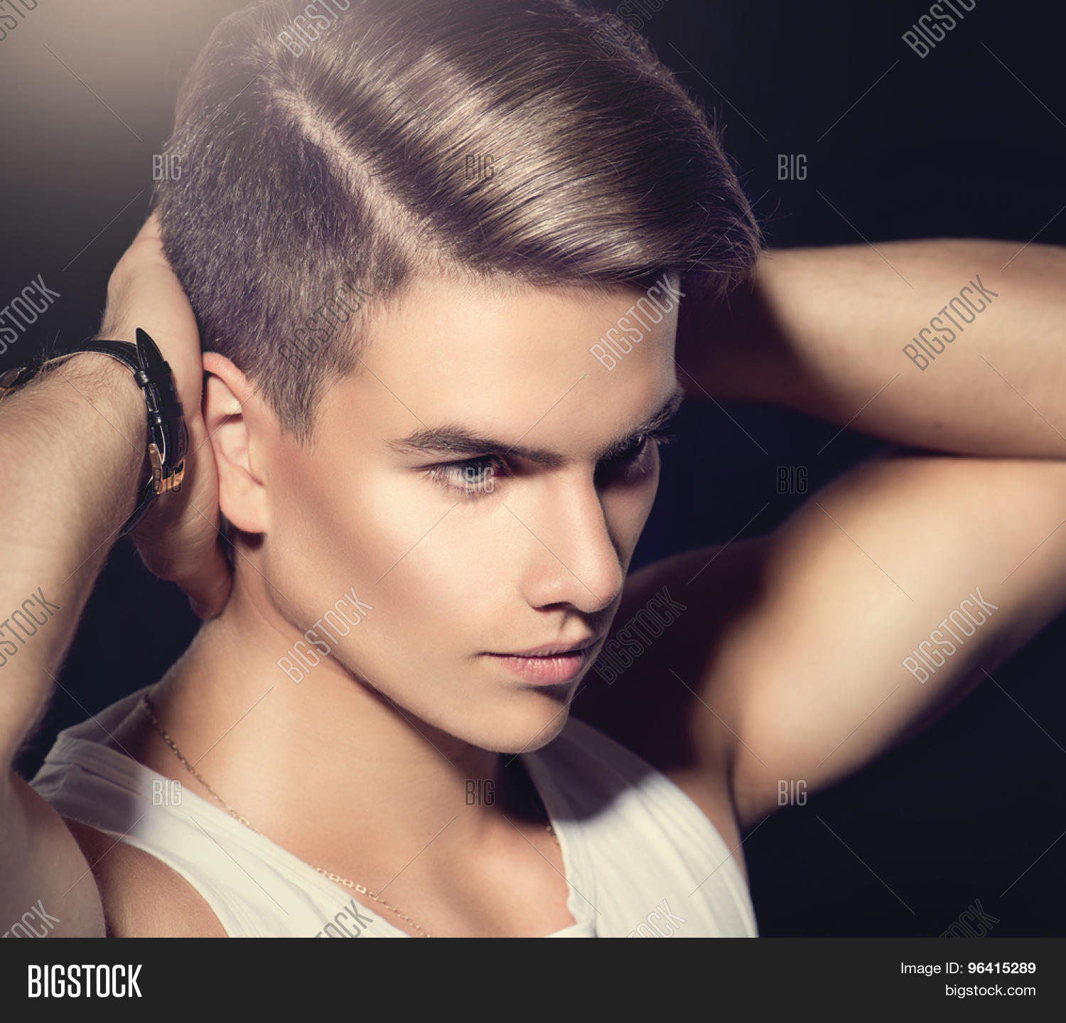 Handsome Young Man Fashion Young Model Man Portrait
