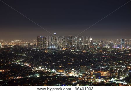 Night view of downtown Los Angeles