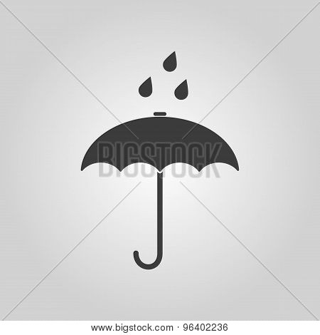 The umbrella bag icon. Rain protection symbol. Flat