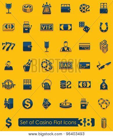 Set of casino icons