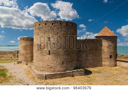 Ancient Fortress In Belgorod Dniester. Three Towers