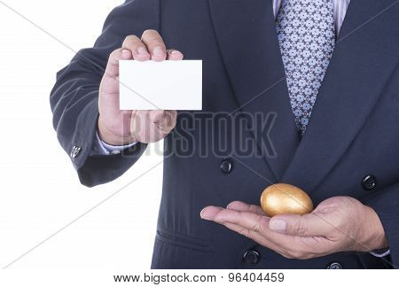 Businessman Offer Blank Business Card