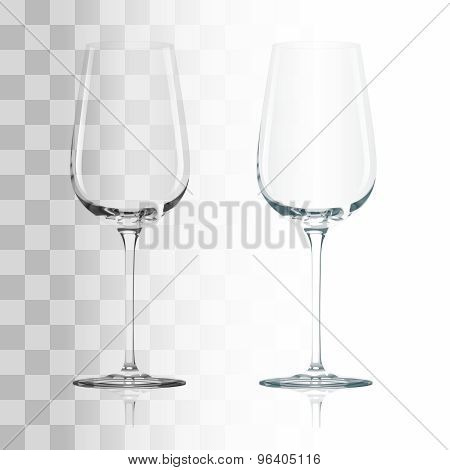 Empty transparent glass