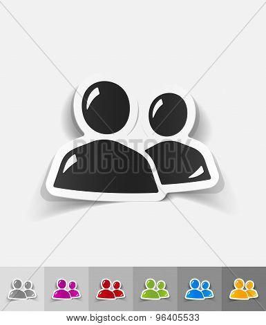 realistic design element. contact ikon