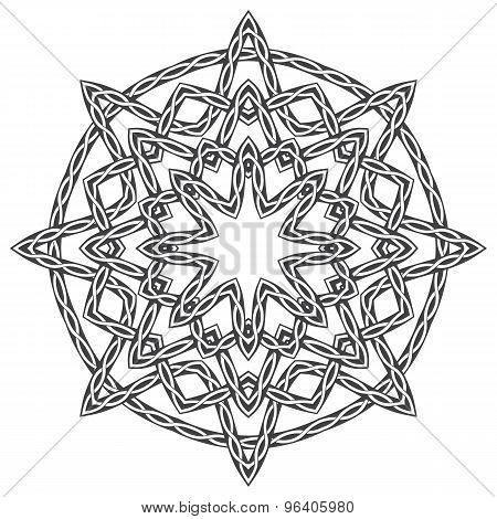 Mandala in Celtic style