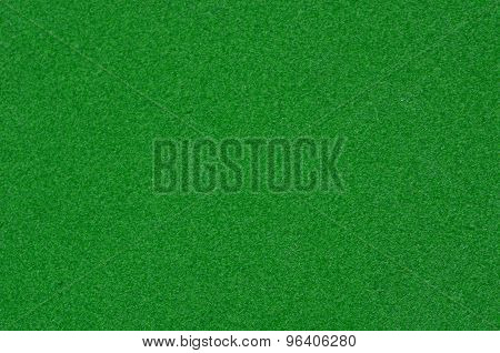 Background texture of green sandpaper.