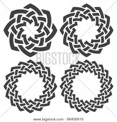 Set of celtic knotting rings