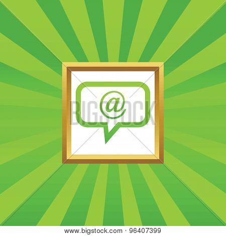 E-mail message picture icon