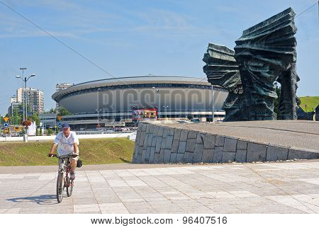 Katowice, Poland - July 19, 2015: Silesian Insurgents Monument O