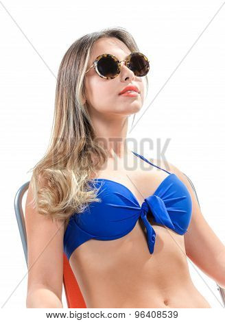 Blonde Girl In A Bathing Suit