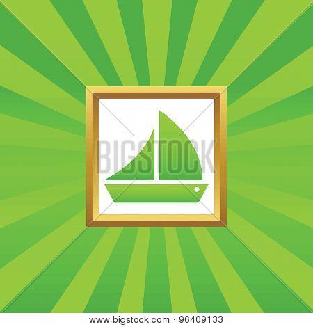 Sailing ship picture icon