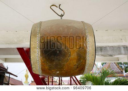 Asia Drum At Temple In Thailand