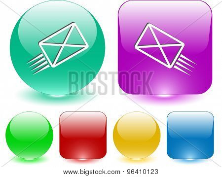send mail. Vector interface element.