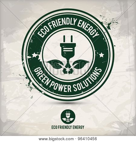 Alternative Eco Friendly Energy Stamp