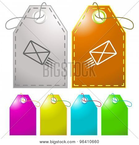 send mail. Vector tags.