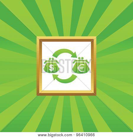 Dollar euro exchange picture icon