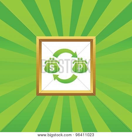 Dollar ruble exchange picture icon
