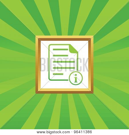 Information document picture icon
