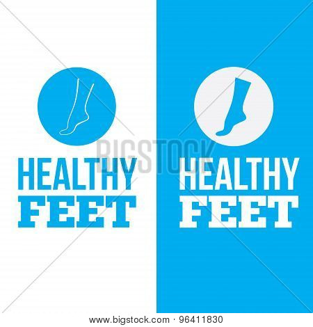 Healthy Feet Logo Concept