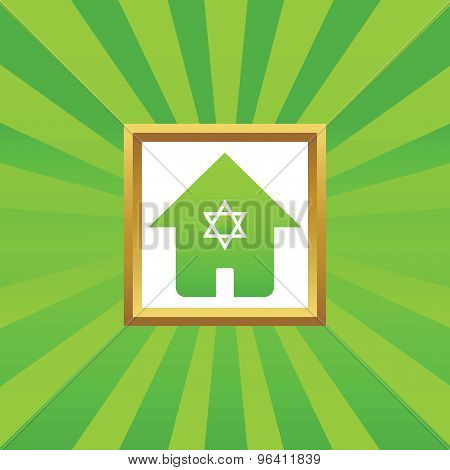 Jewish house picture icon