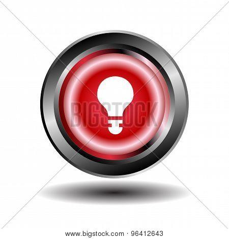 Vector light bulb icon design eps template.