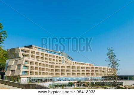 Galaalti - JUNE 19, 2015: Galaalti Hotel on June 19 in Galaalti, Azerbaijan. Galaalti Hotel is a new luxury hotel in Galaalti