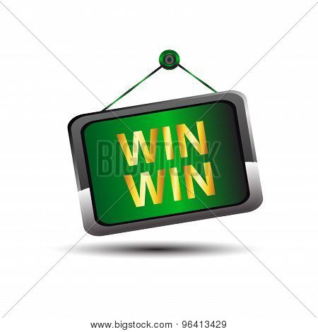 Win win icon buton label