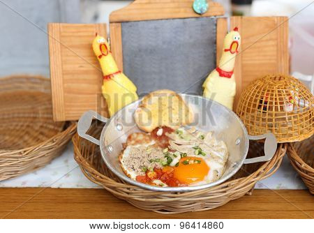 Fried Egg In A Pan Topping