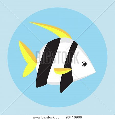 Tropical Fish Flat Icon