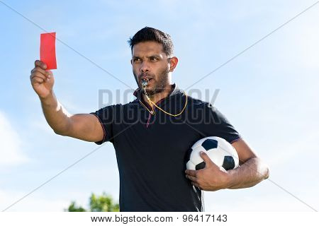Referee With Red Card