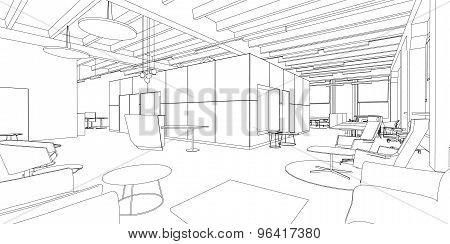 Interior drawing