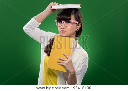 Funny Girl With Book