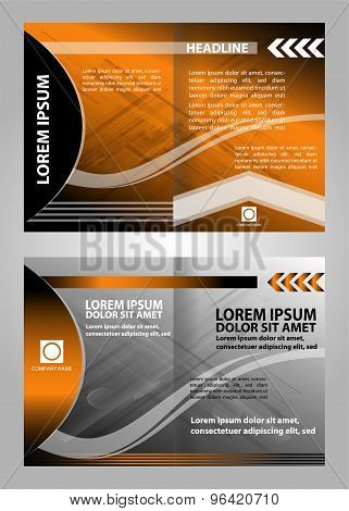 Orange vector brochure booklet cover design templates collection