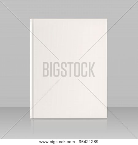Blank Vertical Book Cover, Look Full Face