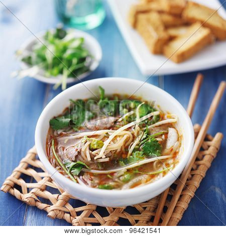 vietnamese traditional pho beef soup Posters and Photos. ID: 96421541