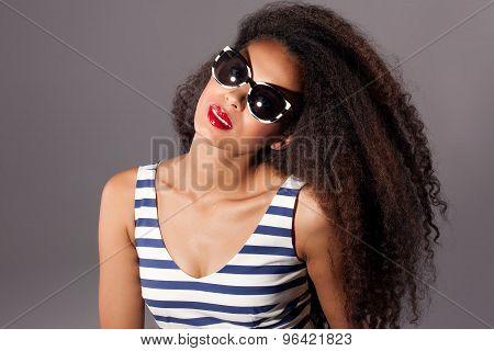 Beautiful African American Woman Posing.